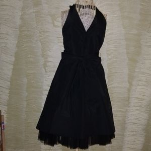 Black BCBG Maxazria halter evening dress